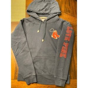 Pink Red Sox Bedazzled Hoodie